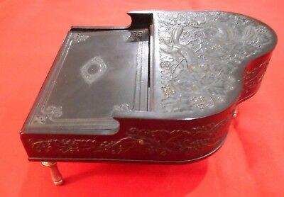 Great Oriental Piano Music Box, With Cigarette Lighter & Case - Black Bakelite