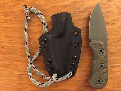 "Groniger MOD.1 with 2.5"" fixed blade in S30V partial crater scales OD Green"