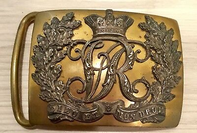 Victorian (1837-1901) Early Reign British Army Full Dress Brass Belt Buckle, UK