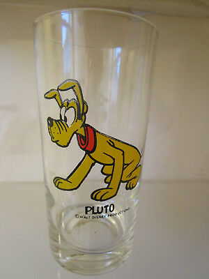 Vintage Walt Disney Productions Pluto Glass Tumbler