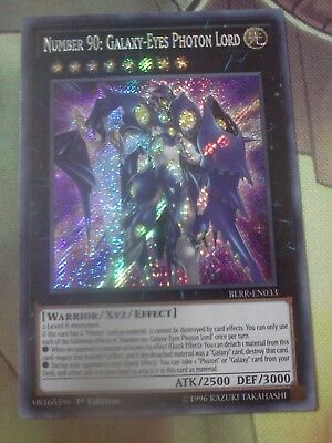 Yugioh Number 90: Galaxy-Eyes Photon Lord Secret BLRR 1st Ed Mint