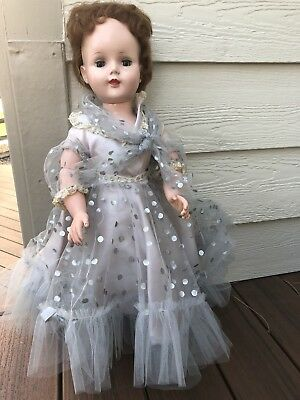 "Vintage 1950's American Character Sweet Sue Doll In Original Dress  25"" Walker"
