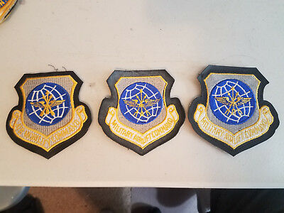 (3) US Air Force Airlift Command Patches velcro back