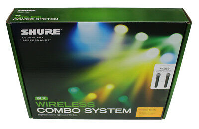 Shure BLX288/PG58 Handheld Wireless System w/Two PG58 Handheld Transmitters NEW