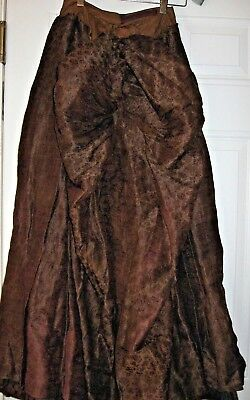 ANTIQUE VINTAGE CIVIL WAR DRESS and CAPE Bustle Skirt/Bodice Capelet