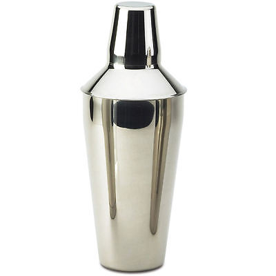 Three Piece Boston Stainless Steel Cocktail Shaker 26oz Drink Party Bar 17CSS