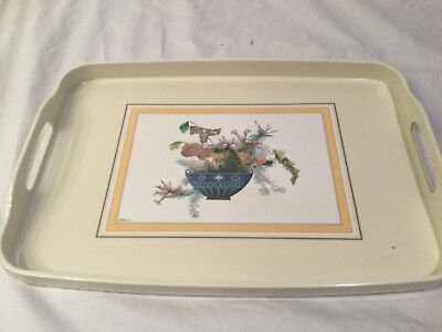 Minton Rectangle Tray w Florals flower bowl 16 in x 10.5 in dishes serving dish
