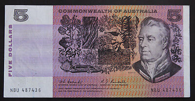 $5 Five Dollar Commonwealth Australia Banknote Coombs Randall Nbu 487436