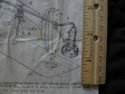 Singer SLF-2 Sewing Machine Lamp Vintage Articulating Instruction (Lot 3 of 5)