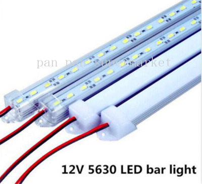 50CM U Aluminium shell DC 12V 36 SMD 5630 LED Hard Rigid LED Strip Bar