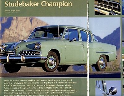 1953-1954 STUDEBAKER CHAMPION BUYER'S GUIDE 6 pg Color Article