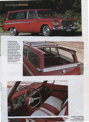 1963 STUDEBAKER WAGONAIRE 6 page DRIVE REPORT Article