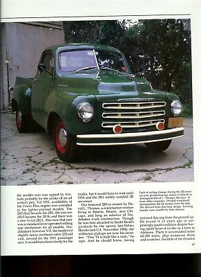 1951 STUDEBAKER 2R5 PICKUP 4 page COLOR ARTICLE