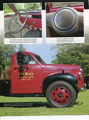 1946 STUDEBAKER M16 FLATBED TRUCK 4 PG COLOR Article