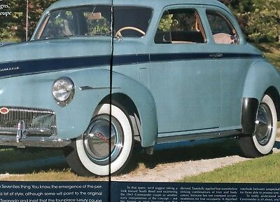 1941 STUDEBAKER COMMANDER COUPE 6 page COLOR Article