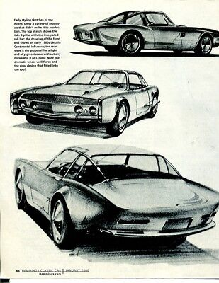 STUDEBAKER - DESIGNING the AVANTI 6 page Article LOEWY