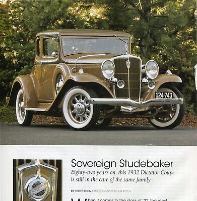 1932 STUDEBAKER DICTATOR COUPE 6 page COLOR Article