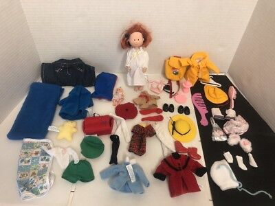 Madeline doll  with huge lot of  clothes outfits NICE