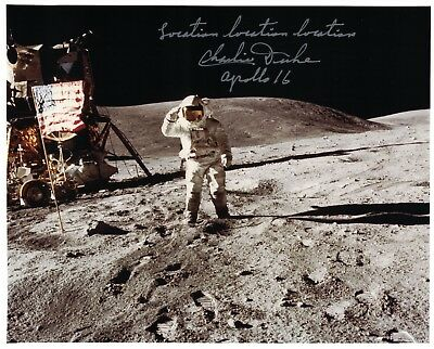 NASA Charlie Duke Apollo 16 Signed Lunar Surface Photo