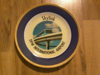 DFW INTERNATIONAL AIRPORT TEXAS Skylink Tram  Promo Plate   NICE     L@@K