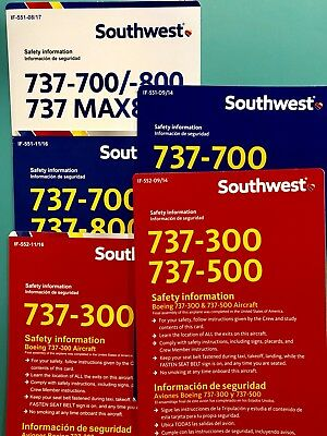 5 Southwest Safety Cards Set