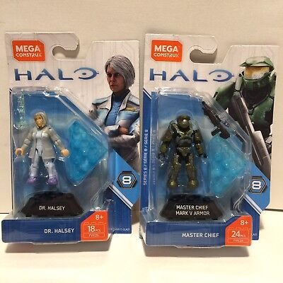 Halsey And Master Chief Fvk25 /& FVK24 MEGA HEROES SERIES 8 Halo Dr