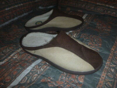 Spa Sensations Memory Foam Suede Slippers Size Medium Mens US 9-10 Theratouch