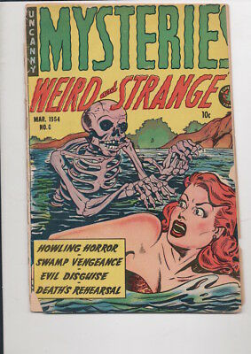 MYSTERIES Weird and Strange #6 comic book/from 1954/75% OFF GUIDE! Only $9.95!