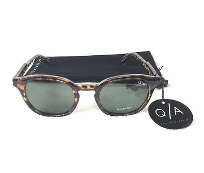 6a4fd861c1e09 Quay Australia Walk On Womens Polarized Round Sunglasses Tort And Green Lens