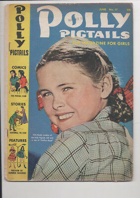 POLLY PIGTAILS #17,21,24,33,41 comics/from 1947/FIVE issues for only $19.95!