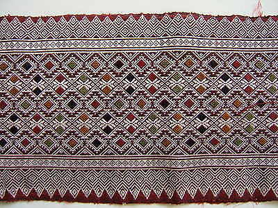 VINTAGE BEAUTIFUL Silk on Silk Loom Woven Brocade from LAOS
