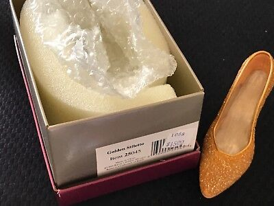 just the right shoe Golden Stiletto Item 25045