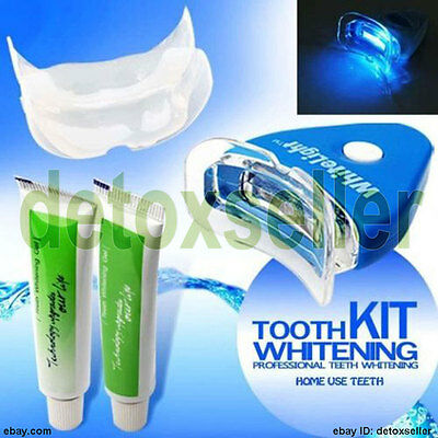 ACCELERATED WHITENING! Personal LED Blue Light Laser Teeth Tooth Whitening Set