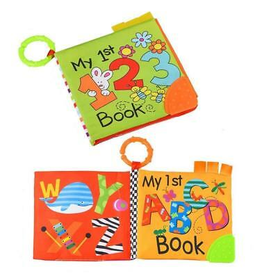 TUMAMA Soft Book for Babies, Baby First Cloth Books with Teether Number...