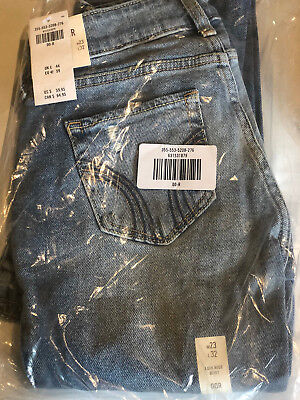 HOLLISTER GIRLS Vintage Stretch Low-Rise Boot Jeans W23 L32 Med Dark Wash NEW