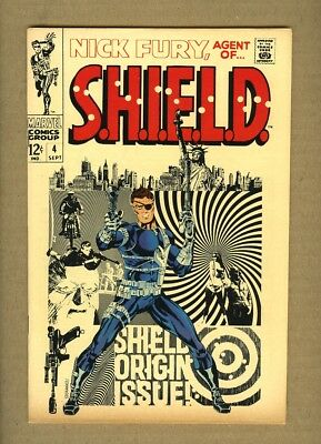 Nick Fury Agent of SHIELD #4 (1968 Marvel) VF 8.0 Classic Steranko Cover