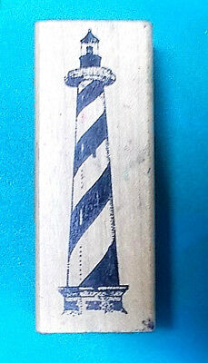 Lighthouse rubber stamp RSA rubber stamps of America striped nautical vintage