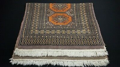 "Vintage Authentic Pakistan Persian Wool Rug Tied Knots (56"" x 31"") 3 lbs 13 oz."