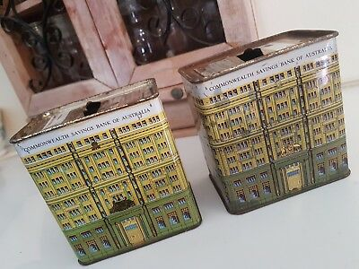 Commonwealth Bank old Tins