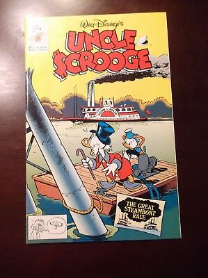 Uncle Scrooge # 277 Disney Nm- Near Mint- 9.2 4/93 The Great Steamboat Race