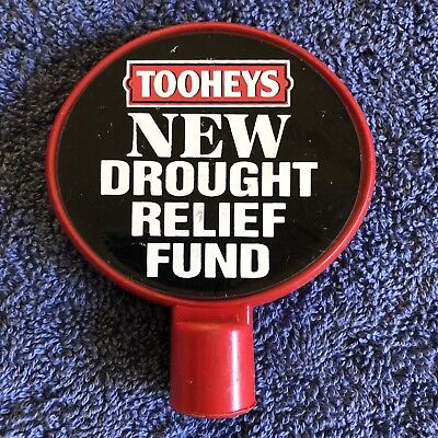 Toohey's New Drought Relief Fund Beer Tap Badge, Top, Decal