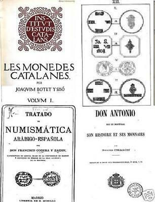 DVD 254 books on coins - Spain Portugal moeda moneda dinero real blanca escudo