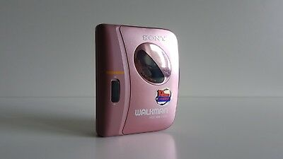 Vintage Sony Cassette Walkman WM-EX122 Pink Edition
