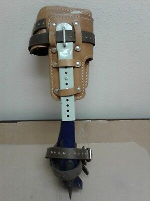 8210 L&R Klein Tools Adjustable Pole Climbing ~Climbers Spurs Gaffs Spikes Hook