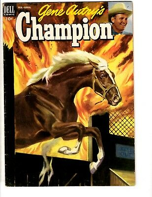 Champion # 9 FN Dell Golden Age Comic Book 1953 Western Gene Autry Horse JL17