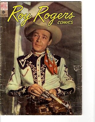 Roy Rogers Comics # 8 VG Dell Golden Age Comic Book Photo Cover Western JL17
