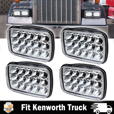 4PACK DOT LED Headlights For Kenworth T400 T600 T800 W900L W900B Classic 120/132