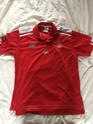Queensland Reds ISC Media Rugby Polo T-shirt Medium (super Rugby)