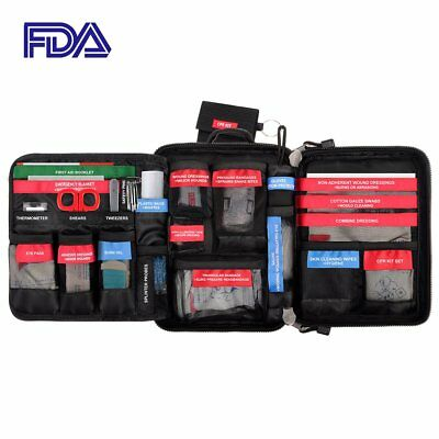 98 Pieces First Aid Kit Bag Molle Waterproof Survival Emergency Compact Pouch In