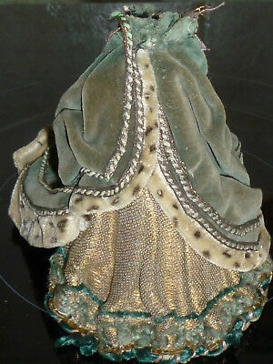 Ancienne Robe Support Dressel Demi Figurine Half Doll Teepuppe Buste Porcelaine